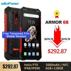 Перейти на Алиэкспресс и купить ulefone armor 6s ip68/ip69k rugged phone helio p70 octa-core 6.2дюйм. fhdandroid 9.0 6gb+128gb nfc face id global version smartphone