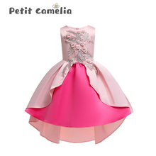 Summer Baby Kids Girls Dress Flower Princess Dress Clothing Sleeveless Dress Costume Girl Pompous skirt Dress