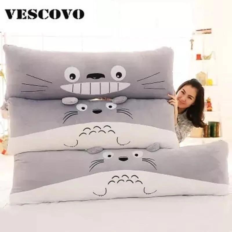 cartoon totoro hugging pillow inner pp cotton filler soft long body pillow core home hotel double pillow