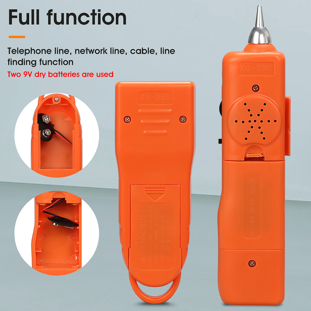 LAN Network Cable Tester Cat5 Cat6 RJ45 UTP STP Detector Line Finder Telephone Wire Tracker Tracer Diagnose Tone Tool Kit 4