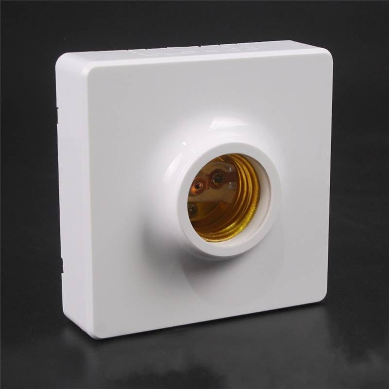 AC250V 10A Surface Mounted Square E27 Light Socket Bulb Adapter Lamp Holder Conversion For LED Converter Lighting Accessory