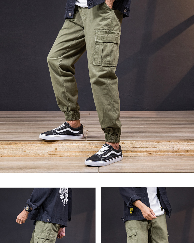 KSTUN Cargo Pants Men 100% Cotton Baggy Military Pants Khaki Camouflage Pants Casual Man Trousers Loose fit Streetwear Men Joggers 23
