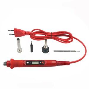 Image 3 - 60W/80W חשמלי מלחם טמפרטורת מתכוונן 220V 110V LCD תצוגה דיגיטלית ריתוך הלחמה ברזל עיבוד חוזר תחנת כלים