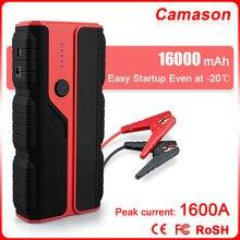 Camason urządzenie do uruchamiania awaryjnego samochodu urządzenie zapłonowe Power Bank baterii 1600A Ahvehicle Auto Emergency Booster benzyna Diesel start Charger