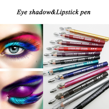 12 Colors Eyeliner With Sharpener Waterproof Smudge-proof Colorfast Easy To Color Eyebrow Pencil Beauty Eye Makeup YL