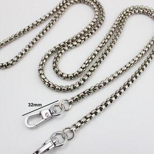 Image 2 - 10pcs 4 colori 5 millimetri di larghezza 123cm catena a rulli per la sostituzione della borsa di crossbody del sacchetto accessorio borsa di hardware, catena della lega, 10 pezzi