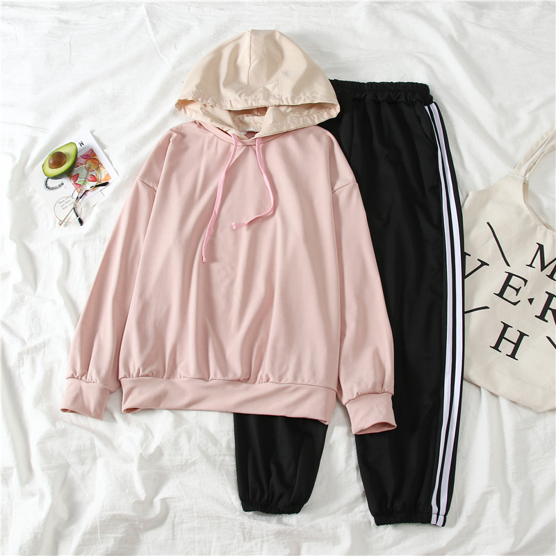 9040 # [Photo Shoot] Supply Of Goods Stability Lower Rack 2020 Spring Summer Long Sleeve Fashion & Sports WOMEN'S Suit Hooded