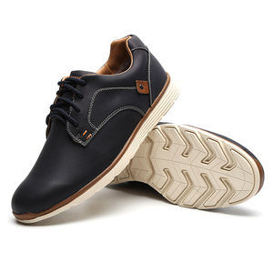 Image 3 - Misalwa Classic Comfort Mens Leather Shoe Brand Leisure Stylish Casual Flat Shoes Work Office Business Keep Warm Men Sneakers