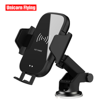 LinXiang 10W Car Holder Automatic Clamping Infrared Induction Wireless Charger For iPhone HuaWei Samsung Xiaomi