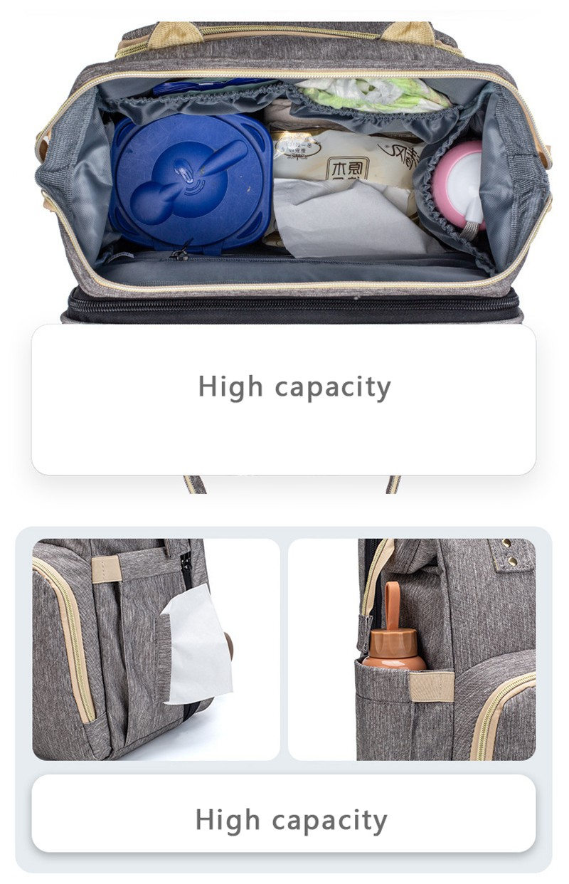 MOTOHOOD Mother Diaper Bags For Mom Multifunctional Nappy Bag Bed Backpack For Women Waterproof Mother Bag Baby Bags (15)