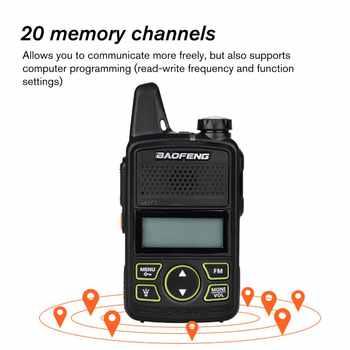 Mini Two-way Radio Baofeng BFT1 Walkie Talkie T1 Portable Ham Radio HF Transceiver BF-T1 Handy Kids UHF Radio Wireless Intercom