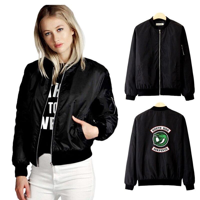 Women Serpent  Jacket Riverdale Sweatshirt Southside Riverdale Sweater Riverdale Down Jacket Baseball Uniform Jacket