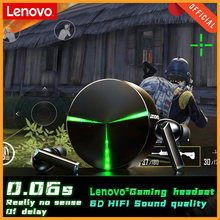 Lenovo GM1 Gaming Earphones with Mic Bluetooth Gamer Headphones 60ms Low Latency TWS Earbuds Gaming Headset for PUBG Stereo