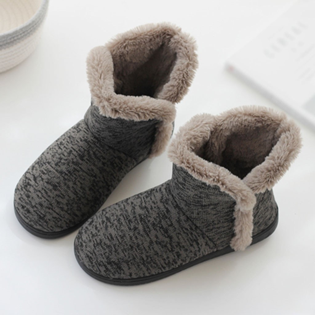 Winter warm Models Home slipper men shoes new arrival Soft Warm Winter Home Boots Thick Cotton Shoes Large Size Non-Slip slipper
