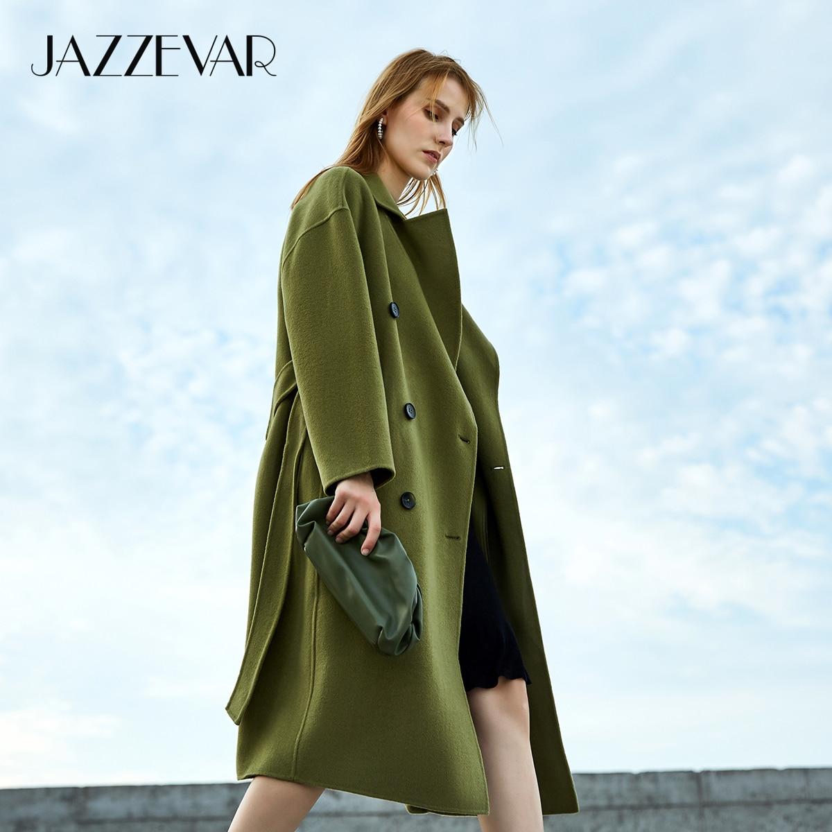 JAZZEVAR 2020 New Winter Women Hand sewn Outerwear High Fashion Street Lady Double Breasted Woollen Double faced X Long Coats|Wool & Blends|   - AliExpress
