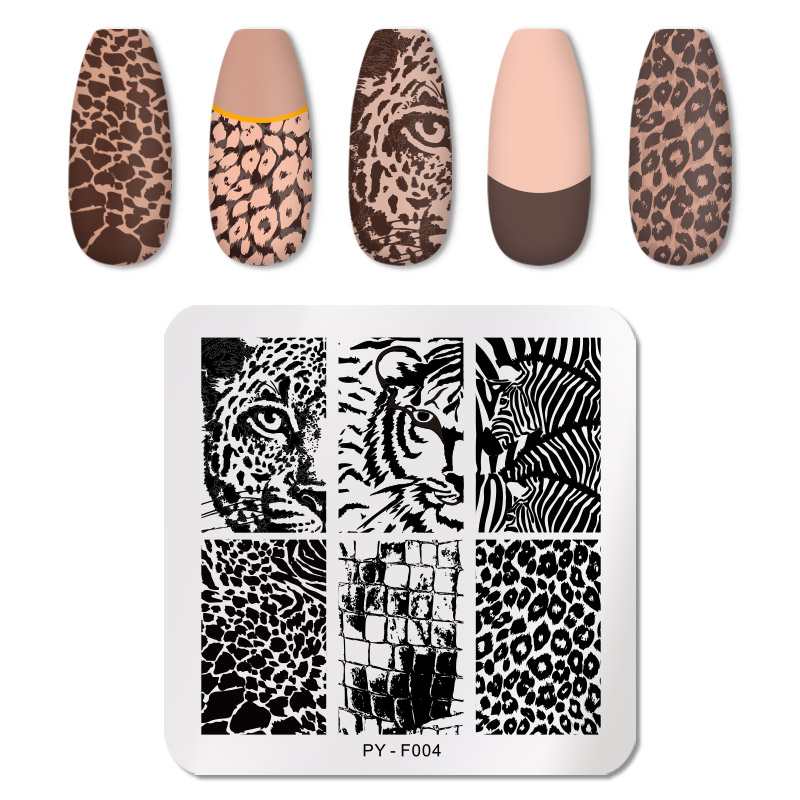 PICT YOU 12*6cm Nail Art Templates Stamping Plate Design Flower Animal Glass Temperature Lace Stamp Templates Plates Image 81