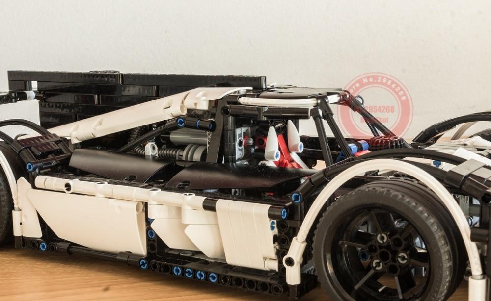 新しいテクニックシリーズ MOC 5530 ハイブリッドスーパーレーシングカーフィットテクニックモデルビルディングブロックレンガのおもちゃ Diy 誕生日子供のギフトクリスマス  グループ上の おもちゃ & ホビー からの ブロック の中 2