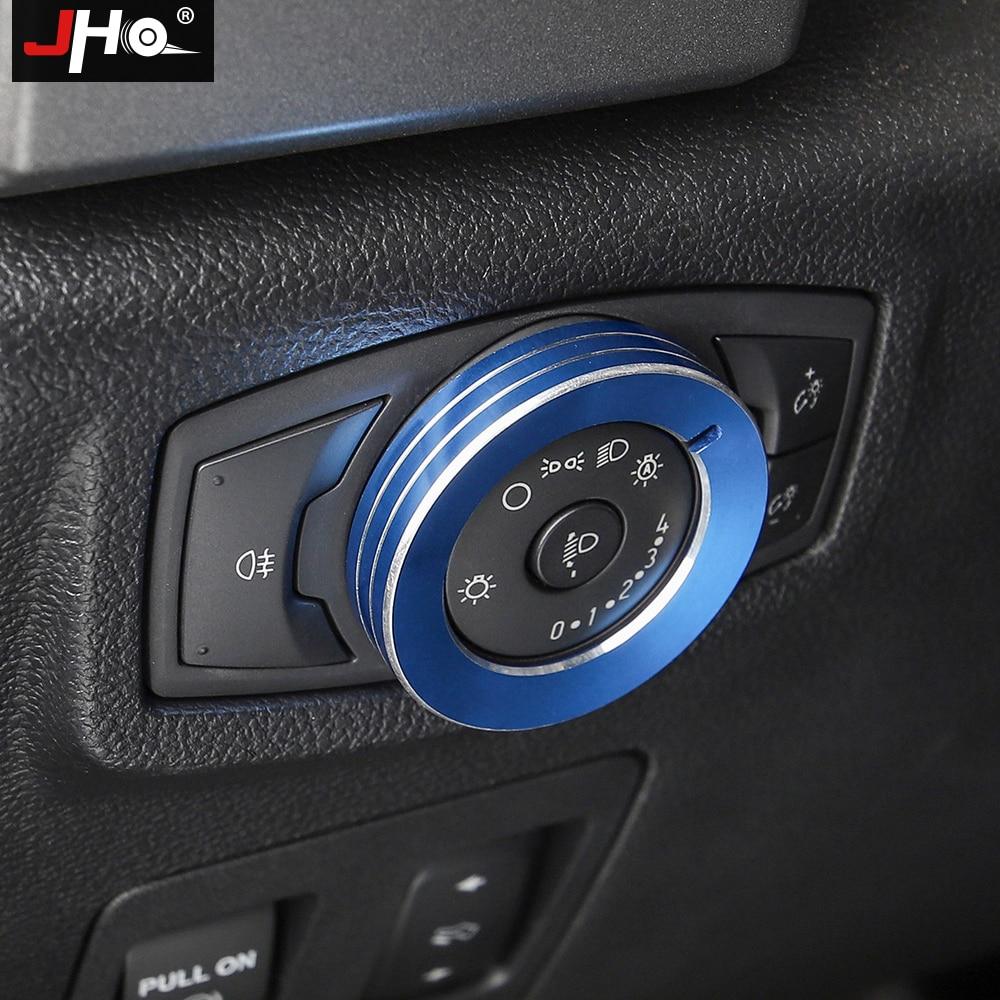 JHO-couvercle de superposition de bague | Bouton de commutation de voiture, garniture de couvercle pour Ford F150 RAPTOR 2017 2018 2019 Ford Explorer 2011-2019 2016 2015