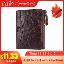 Hot Sale Genuine Leather Wallets Men Short Coin Purse Male Vintage Small Card Holder For Clamp Quality Designer Money Bag  Soft