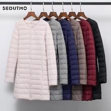 SEDUTMO Winter Plus Size 4XL Women Duck Down Jackets Long Ultra Light C