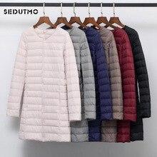 SEDUTMO Winter Plus Size 4XL Women Duck Down Jackets Long Ul