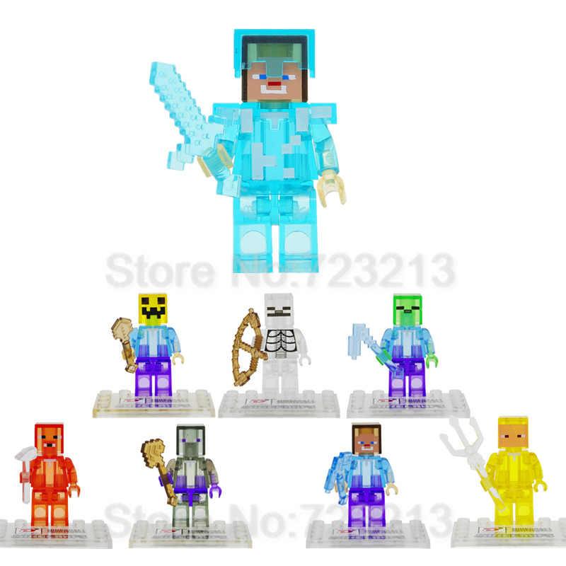 واحد بيع الكرتون الشكل كريستال واضحة شفافة اللبنات مجموعة نموذج الطوب لعب للأطفال D851 عيد الميلاد هدايا