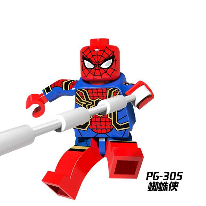 Vingadores Thanos Figura do Homem De Ferro Thor Homem Aranha Capitão América Marvel Super Heroes Batman Building Blocks Define Brinquedos para As Crianças