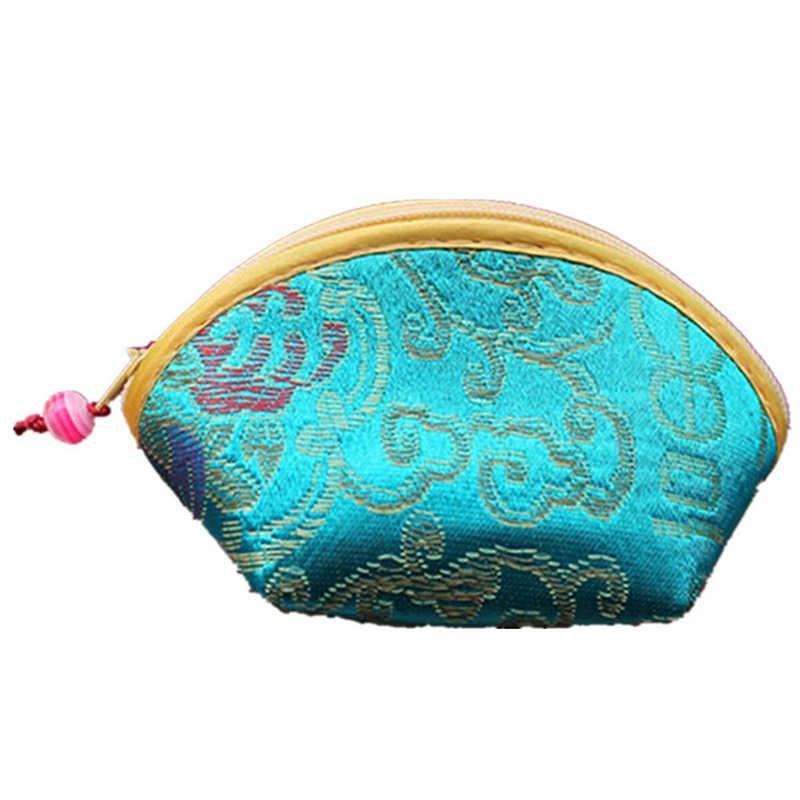 Çin İpek nakış cüzdan değişim sikke çanta çanta küçük çanta kılıfı rastgele