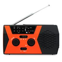 Solar FM AM NOAA SOS Radio Weather Alert, Outdoor Waterproof LED Light Emergency Manual Crank Radio For Camping/Outdoor