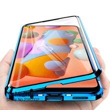 360 Từ Tính Flip Case Dành Cho Samsung Galaxy Samsung Galaxy A11 M11 2020 M Một 11 11 M 11a A115f M115f 2 Mặt kính Cường Lực Điện Thoại Bao Coque Fundas