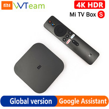 Global Xiaomi Mi recuadro S HDR 4K Android TV Box 8,1 Ultra HD 2G 8G WIFI Google asistente remoto Streaming Netflix IPTV reproductor de medios
