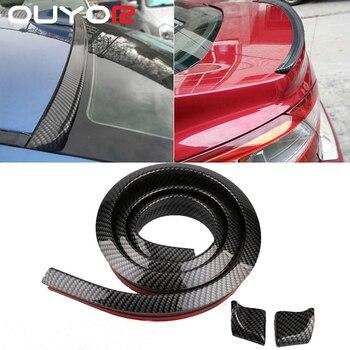 1.5M Car-Styling 5D Carbon Fiber Spoilers Styling DIY Refit Spoiler For Audi BMW Toyota Honda KIA Hyundai Opel Mazda Ford Skoda 1