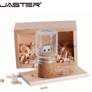 Image 2 - Jaster Glas Drift Fles Met Kurk Usb 2.0 Flash Drive (Transparant) pendrive 4G 8G 16Gb 32Gb 64Gb Fashion Huidige Fles Gift