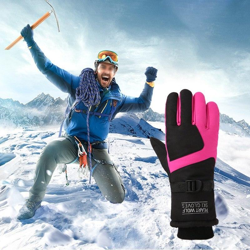 Men's Ski Gloves Fleece Snowboard Gloves Snowmobile Motorcycle Riding Winter Gloves Windproof Waterproof Unisex Snow Gloves