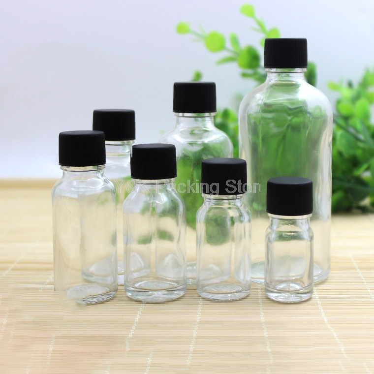 5ml,10ml,15ml,<font><b>20ml</b></font>,30ml,50ml,100ml Empty <font><b>Glass</b></font> <font><b>Bottles</b></font> Clear Essential Oil <font><b>Bottle</b></font> <font><b>Vials</b></font> <font><b>with</b></font> Black <font><b>screw</b></font> <font><b>Cap</b></font> image