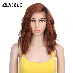 Noble Synthetic Wig 14 Inch Lace Front Wig Curly Hair Blonde Ombre Wig Cosplay Wigs for Black Women Synthetic Lace Front Wig(China)