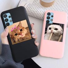 Do Samsung A32 A52 A72 A51 A71 A42 cukierki kot silikonowy futerał na telefon na Galaxy A70e A60 A81 A90 A12 Plus 2017 2018 miękka tylna pokrywa tanie tanio Deyonta CN (pochodzenie) Częściowo przysłonięte etui Cute Cat Animal Phone Case For samsung a32 a52 a72 Luxury Candy Cover