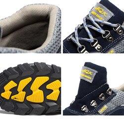 Zapatos de seguridad para hombre, zapatos de trabajo transpirables, zapatos de protección seguros, Cabeza de Acero, aplastamiento, Anti punción, una generación de grasa