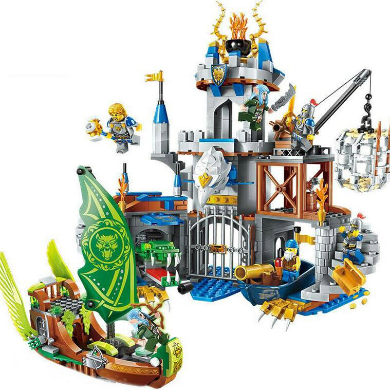 NEW 1541Pcs Building Block War Of Glory Castle Knights The Battle Bunker 9 Figures Fit Legoinglys Educational Brick Toy Boy Gift