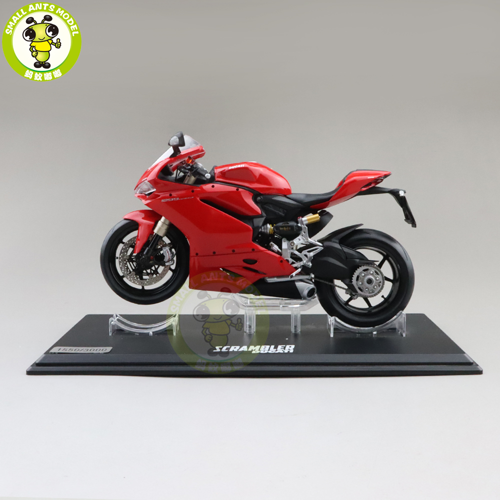 1/12 1299 PANIGALE Diecast Motorcycle Car Model Boys Girls Gifts Collection