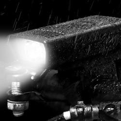 1Pc Universal Bike Lights USB Rechargeable Light Front Light Super Bright Waterproof Headlight for Bike (Black)