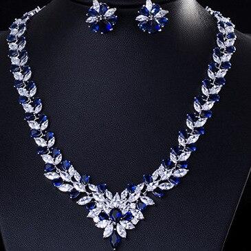 Mode bohème pleine strass couleur argent cristal boucles d'oreilles colliers ensemble pour les femmes nouvelle déclaration à la mode bijoux ensemble cadeaux