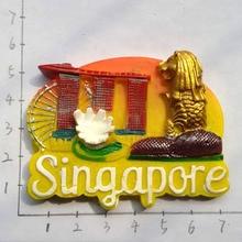 BABELEMI Sentosa, остров Сингапур, башня Мерлион, пески, небо, парк, мир, путешествия, магнит на холодильник, туристические сувениры