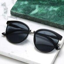 Солнцезащитные очки в винтажном стиле женские, зеркальные солнечные аксессуары кошачий глаз с цветными линзами, модные брендовые дизайнер...