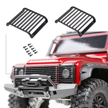 2Pcs TRX4 Metal Front Lamp Guards Headlight Cover Guard Grille for 1/10 RC Crawler Car Traxxas TRX-4 image