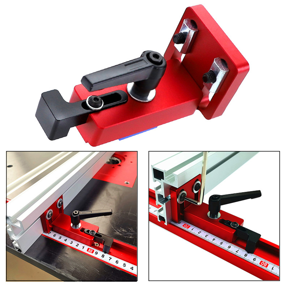 30/45 T-Slot Miter Track Stop Sliding Miter Gauge Fence Connector Rail Retainer Chute Locator For Milling Woodwork