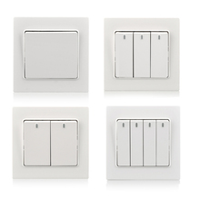 Cognag wall light switch 1 2 3 4 gang  push button 86 type on/off PC white with neon