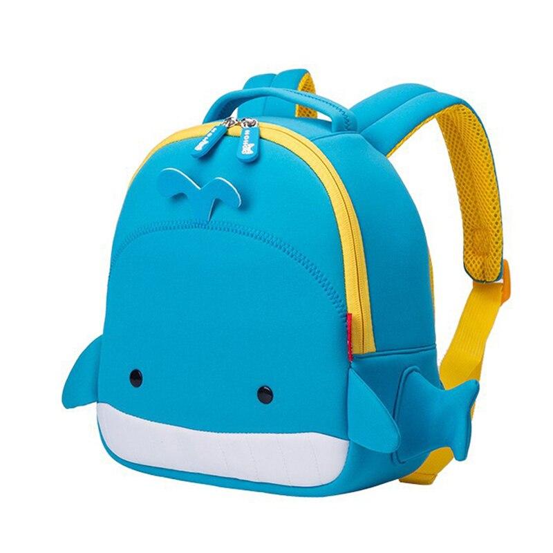 3D Cartoon Whale School Bags For Boys Girls Cute Animals Design Waterproof Kids Bags Children School Backpacks Mochila Infantil