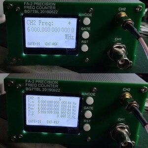 Image 4 - FA 2 1Hz 12.4GHz frekans sayıcı kiti frekans ölçer istatistik fonksiyonu 11 bit/sn + güç adaptörü