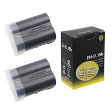 Batterie de caméra pour Nikon Z6 Z7, 2 × 1900mAh, EN-EL15b ENEL15b EN EL15b, D850 D810 D750 D610 D7500 D7200 MH-25a